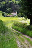 Engels Landelijk Landschap met het Spoor van het Landbouwbedrijf Royalty-vrije Stock Afbeeldingen