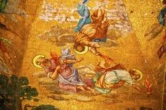Engels-Mosaik-alte Basilika Guadalupe Mexiko City Mexiko Lizenzfreies Stockbild