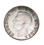 Engels muntstuk van zilver Stock Foto
