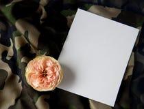 Engels nam en lege kaart voor tekst op stof toe Stock Foto's