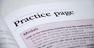 Engels oefenboek Stock Foto's