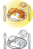 Engels ontbijt stock illustratie