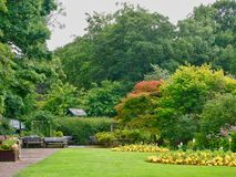 Engels park in de Zomer stock afbeelding