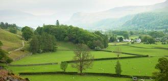 Engels platteland in de lente Royalty-vrije Stock Foto