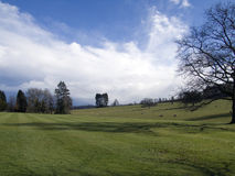 Engels platteland in de winter Royalty-vrije Stock Foto's