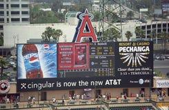 Engels-Stadion der Anaheim-Anzeigetafel Stockfotos