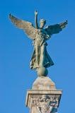 Engels-Statue in Montreal Stockbilder