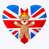 Engels Teddy Bear Stock Afbeelding