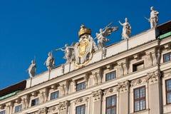 Engels-Trompeter am britischen Palast in Wien stockbild