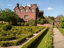 Engels Tudor Knot Garden stock afbeeldingen