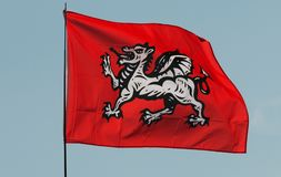 Engels Wit Dragon Flag Royalty-vrije Stock Fotografie
