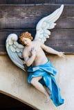 Engelsbote-Ansagergeburt christi skulptur stockbild