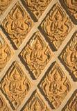 Engelsdekorationssteine in einem Lampang-Tempel, Thailand Lizenzfreie Stockfotografie