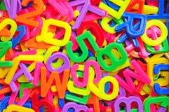Engelse alfabet en aantalachtergrond Royalty-vrije Stock Fotografie