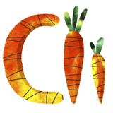 Engelse alfabetbrief C vector illustratie