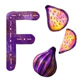 Engelse alfabetbrief F vector illustratie