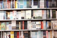 Engelse boekachtergrond Stock Foto