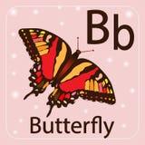 Engelse brief B, vlinder stock illustratie