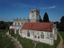 Engelse de 9de Eeuwkerk Royalty-vrije Stock Foto