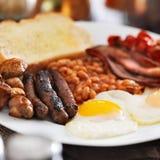 Engelse Dichte Omhooggaand van het Ontbijt Stock Foto's