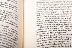 Engelse die woorden op twee open boekpagina's worden getoond royalty-vrije stock afbeelding