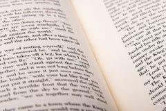Engelse die woorden op twee open boekpagina's worden getoond royalty-vrije stock foto's