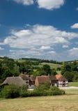 Engelse dorpsscène Royalty-vrije Stock Afbeeldingen