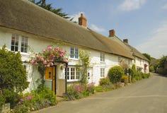 Engelse dorpsstraat Royalty-vrije Stock Fotografie