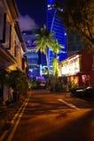 Engelse erfenis in het stads 's nachts centrum Stock Foto's