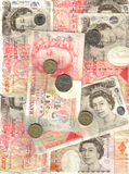Engelse geldachtergrond Stock Afbeelding