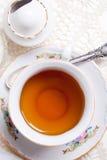 Engelse hoge thee Stock Foto's