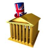 Engelse hoge zijden die zich over beurs bevindt buil Stock Foto's