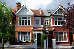 Engelse huizen royalty-vrije stock foto's