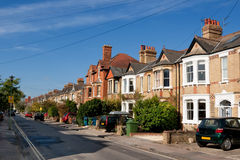 Engelse huizen Stock Foto