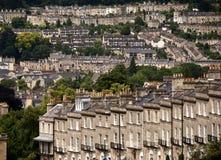 Engelse huizen royalty-vrije stock foto