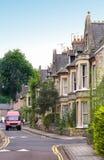 Engelse huizen royalty-vrije stock afbeelding