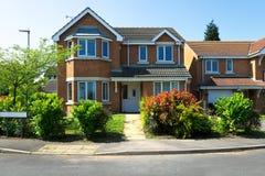 Engelse huizen Stock Fotografie