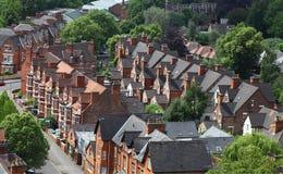 Engelse Huizen, Nottingham royalty-vrije stock afbeelding