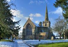 Engelse kerk in de winter Royalty-vrije Stock Afbeeldingen
