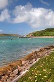 Engelse kust in de Zomer Stock Foto