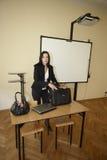Engelse leraar in klaslokaal Royalty-vrije Stock Afbeeldingen