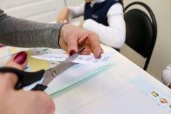 Engelse les met kinderen Stock Foto