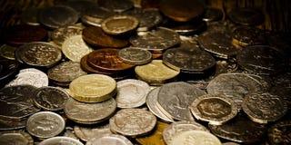 Engelse muntstukken stock foto
