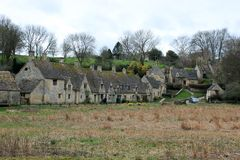 Engelse plattelandshuizen in cotswolds Royalty-vrije Stock Afbeeldingen
