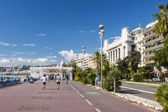 Engelse promenade in Nice Royalty-vrije Stock Afbeeldingen
