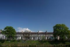 Engelse rijtjeshuizen royalty-vrije stock foto