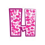 Engelse roze brief H op een witte achtergrond Vector Stock Foto's