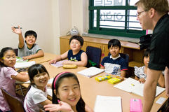 Engelse school in Zuid-Korea Royalty-vrije Stock Foto