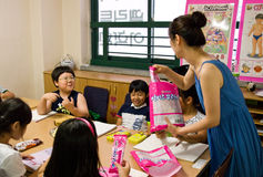Engelse school in Zuid-Korea Royalty-vrije Stock Fotografie