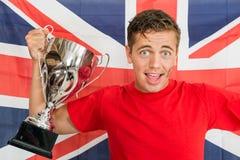 Engelse Sportenventilator Royalty-vrije Stock Foto's